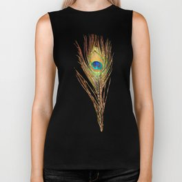 Peacock Feathers Invasion - Wave Biker Tank
