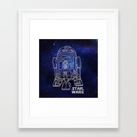 r2d2 Framed Art Prints featuring r 2 d 2 by Vickn