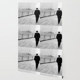 Winston Churchill At Sea Wallpaper