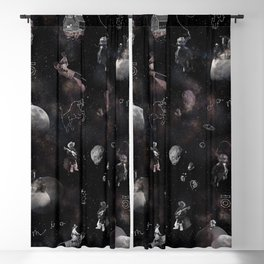 Space Cowboy Pattern Blackout Curtain