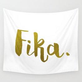 Golden fika Wall Tapestry