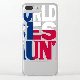 Worlds Best Aunt Design and Texas Design Aunt Design Texas Flag shirt Clear iPhone Case