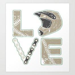 I Love Dirt Bike | Motocross Art Print