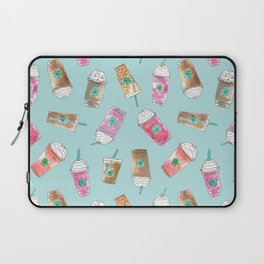 Coffee Crazy Toss in Blueberry Laptop Sleeve
