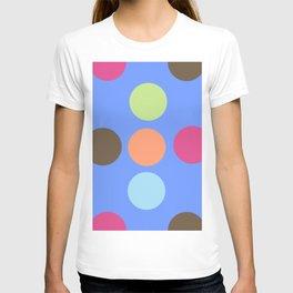 Retro Polka Dot - Denim Blue T-shirt