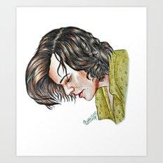 Harry Styles color pencil artwork Art Print