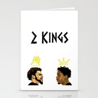 kendrick lamar Stationery Cards featuring 2 Kings. Kendrick Cole by MikeHanz
