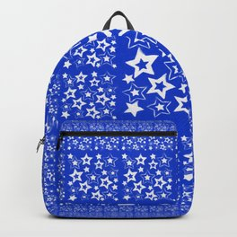 Stars on blue Background Backpack