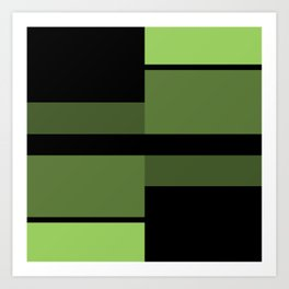 An abstract geometric pattern . Alex 2 Art Print