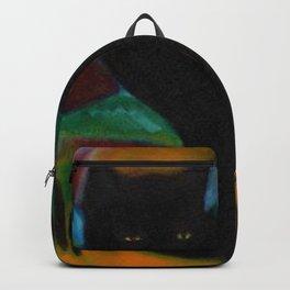 Black Cat by Franz Marc Backpack