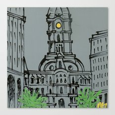 Little City Hall Sketch Canvas Print