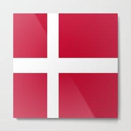 The flag of danmark Metal Print