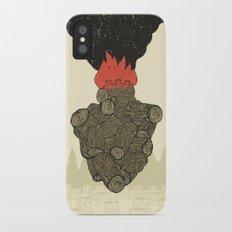 Endure Burning - Viktor Frankl Quote - wood heart iPhone X Slim Case