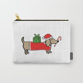 Christmas dachshund Carry-All Pouch