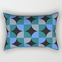 NeonBlu Squares Rectangular Pillow
