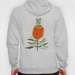 Bottlebrush Flower - White Hoody