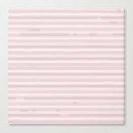 Soft Alice Pink Two Tone Horizontal Pin Stripe Canvas Print