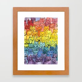 the pride cat rainbow  squad Framed Art Print