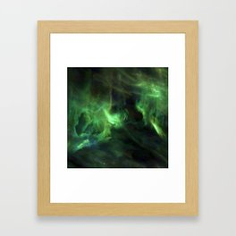 Ghostly Green Smoke Framed Art Print