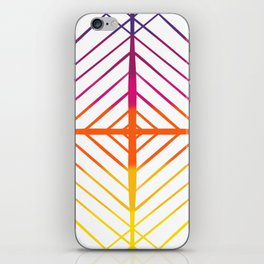 Sunset Gradient Lines iPhone Skin