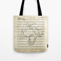 beethoven Tote Bags featuring Beethoven by bananabread
