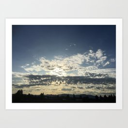Paynes Gray Blue Sunrise Art Print