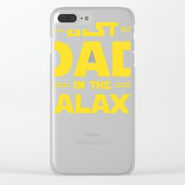 Star Wars - Best Dad In The Galaxy Clear iPhone Case