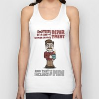 ron swanson Tank Tops featuring Ron Swanson by maykel nunes