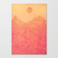 Sunset Mountain - 2 Canvas Print