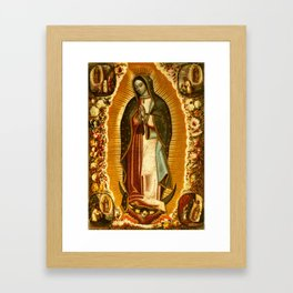 Our Lady Virgin of Guadalupe Virgin Mary Holy Blessed Maria Christmas Gift Religion Framed Art Print