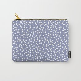 Dusty Purple and White Polka Dot Pattern Carry-All Pouch