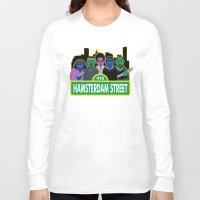 sesame street Long Sleeve T-shirts featuring Hamsterdam Street by Grady