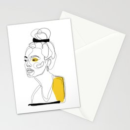 Yellow Sketch Stationery Cards