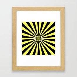 Starburst (Black & Yellow Pattern) Framed Art Print
