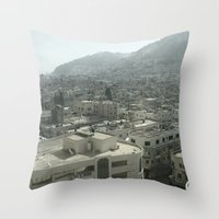 palestine Throw Pillows featuring Nablus Palestine by Sanchez Grande
