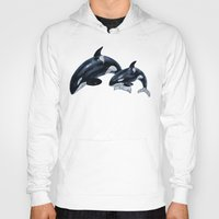 orca Hoodies featuring Orca by vervex