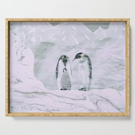 Penguins family Serving Tray