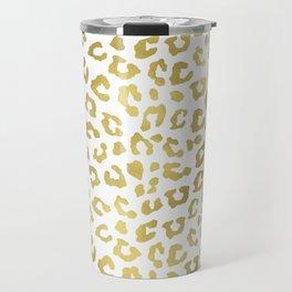 Glam Gold Cheetah Animal Print Travel Mug