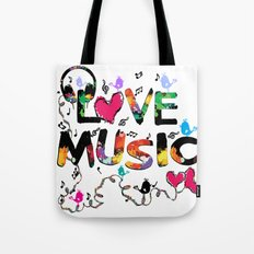 LOVE MUSIC Tote Bag