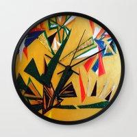 oakland Wall Clocks featuring Oakland Wall Flower by Oakland.Style