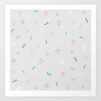 Floating Shapes Art Print