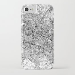 Berlin White Map iPhone Case