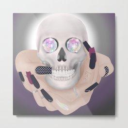 Gypsy Skull Crystal Eyes Metal Print