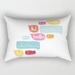 Hi Hello Rectangular Pillow