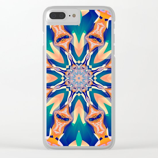 Abstract kaleidoscope with tribal patterns Clear iPhone Case