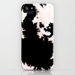 black, white and pink abstract 25 iPhone Case