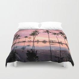 Pastel Sunset Palms Duvet Cover