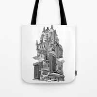 madrid Tote Bags featuring MADRID 360º by DOURONE