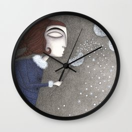 Winter Twilight Wall Clock