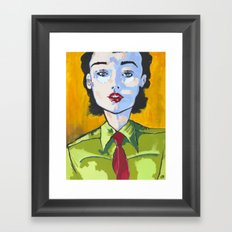 Up To The Task Framed Art Print